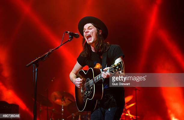 James Bay peforms on stage at the O2 Academy Brixton on September 30 2015 in London England