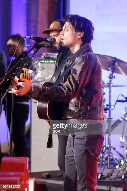 James Bay performing on the One Show at the BBC Studios on April 27 2018 in London England