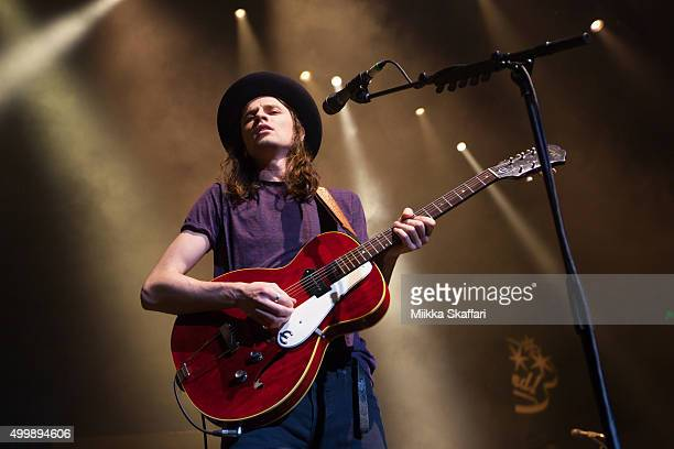 James Bay performs at Alice in Winterland event at The Masonic Auditorium on December 3 2015 in San Francisco California