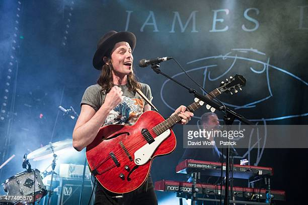James Bay performs at Le Trabendo on June 17 2015 in Paris France