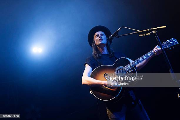 James Bay performs at O2 Academy Glasgow on September 24 2015 in Glasgow Scotland