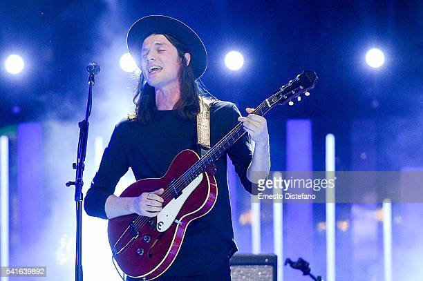 James Bay performs at the 2016 iHeartRADIO MuchMusic Video Awards at MuchMusic HQ on June 19 2016 in Toronto Canada