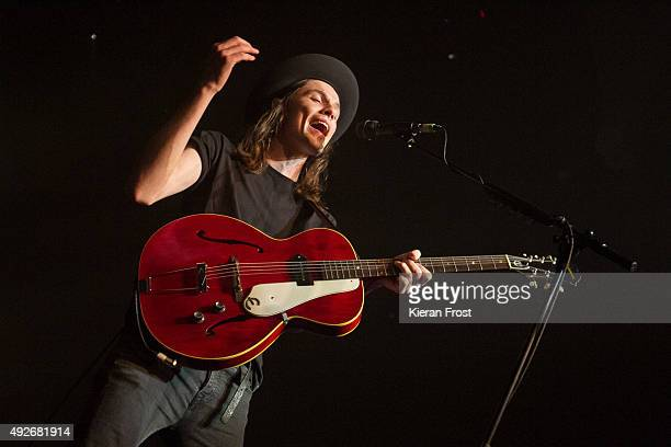 James Bay performs at The Olympia Theatre on October 14 2015 in Dublin Ireland