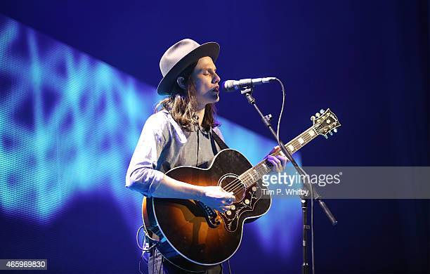 James Bay performs at The Prince's Trust Celebrate Success Awards at Odeon Leicester Square on March 12 2015 in London England