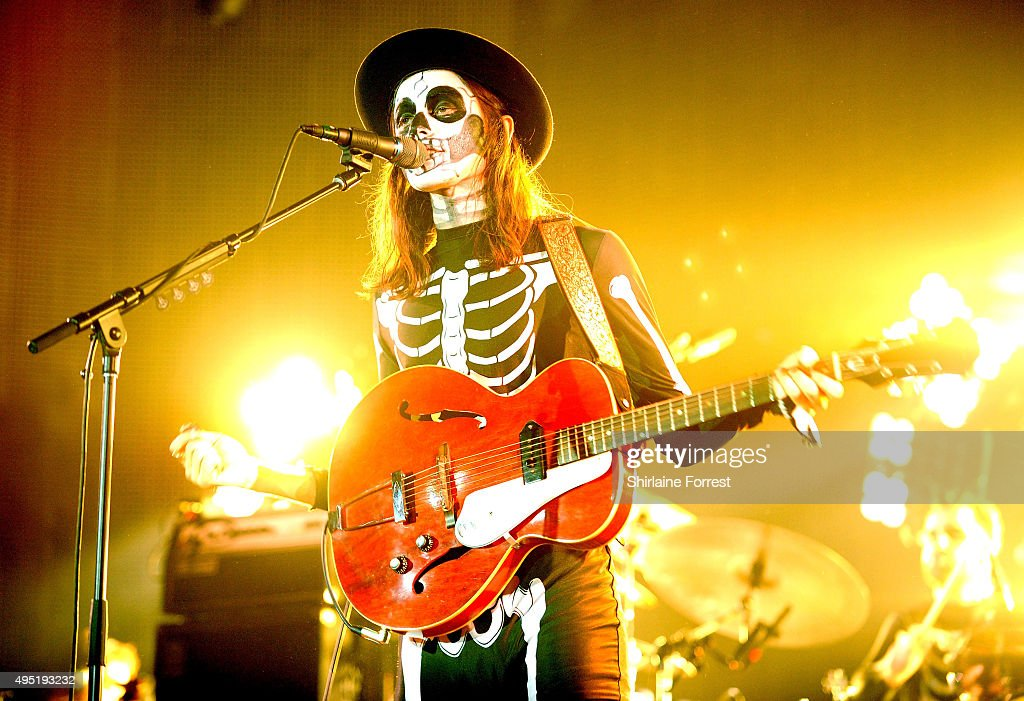 James Bay performs at Vevo Halloween party at Victoria Warehouse on October 31, 2015 in Manchester, England.