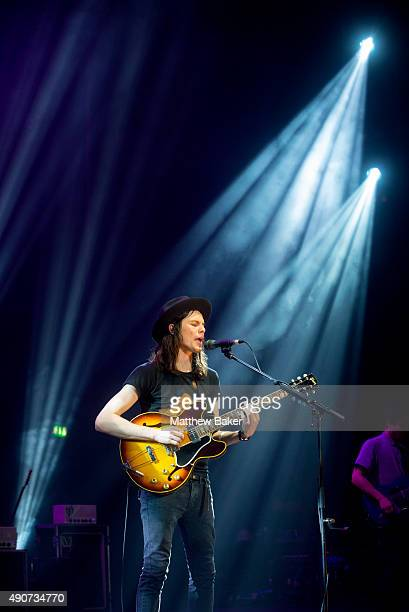 James Bay performs on stage at O2 Academy Brixton on September 30 2015 in London England