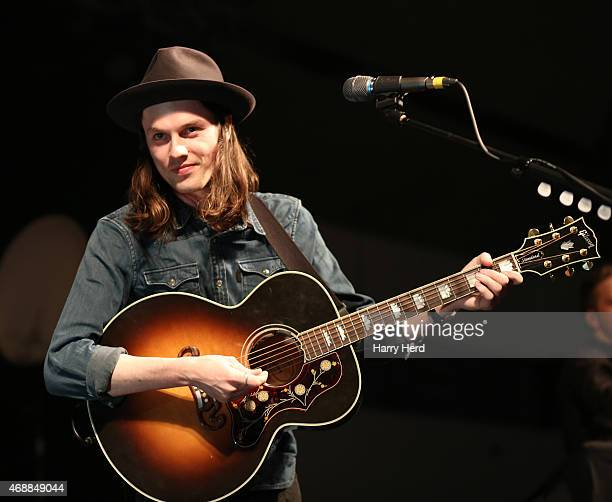 James Bay performs on stage at Portsmouth Pyramids on April 7 2015 in Portsmouth England
