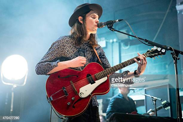 James Bay performs on stage at The Institute on April 18 2015 in Birmingham United Kingdom