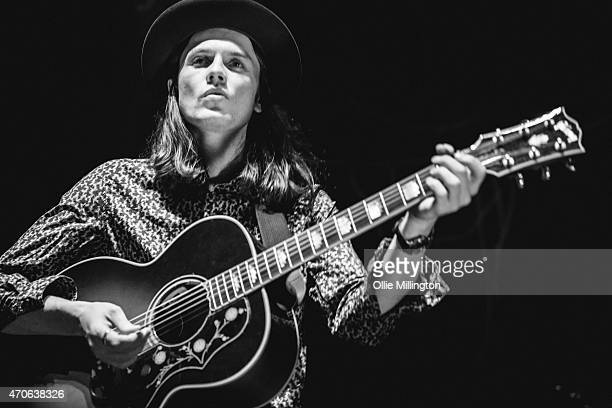 James Bay performs on stage at The Institute on April 20 2015 in Birmingham United Kingdom