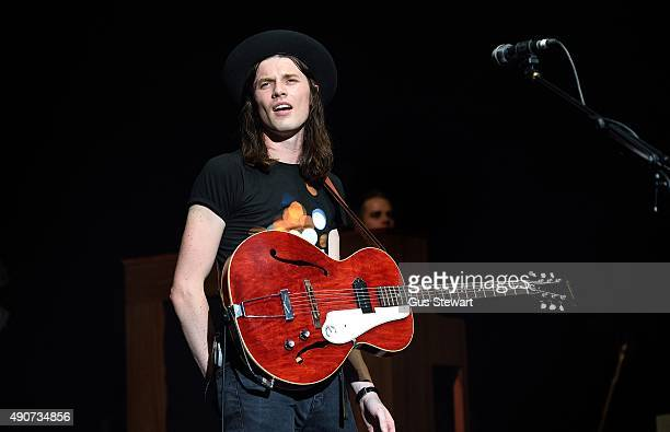 James Bay performs on stage at the O2 Academy Brixton on September 30 2015 in London England