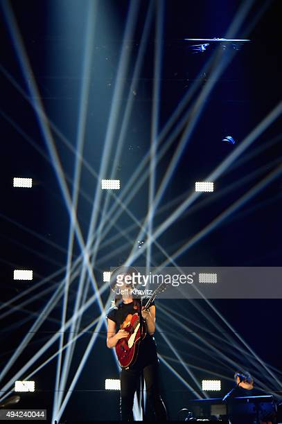 James Bay performs on the stage during the MTV EMA's 2015 at the Mediolanum Forum on October 25 2015 in Milan Italy