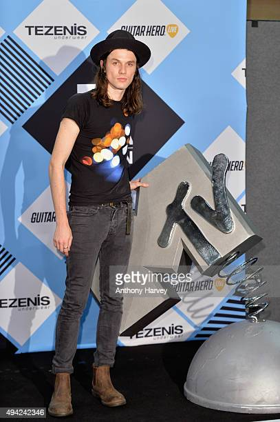 James Bay poses in the Winners Room after performing at the MTV EMA's 2015 at the Mediolanum Forum on October 25, 2015 in Milan, Italy.