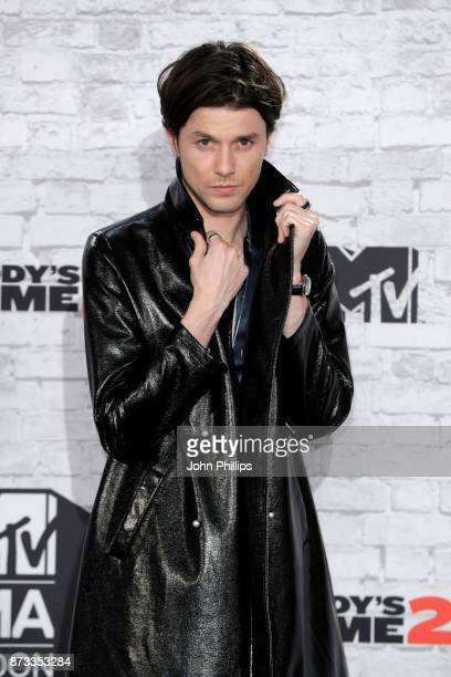 James Bay poses in the winner's room during the MTV EMAs 2017 held at The SSE Arena Wembley on November 12 2017 in London England