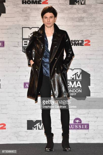 James Bay poses in the Winners Room during the MTV EMAs 2017 held at The SSE Arena Wembley on November 12 2017 in London England