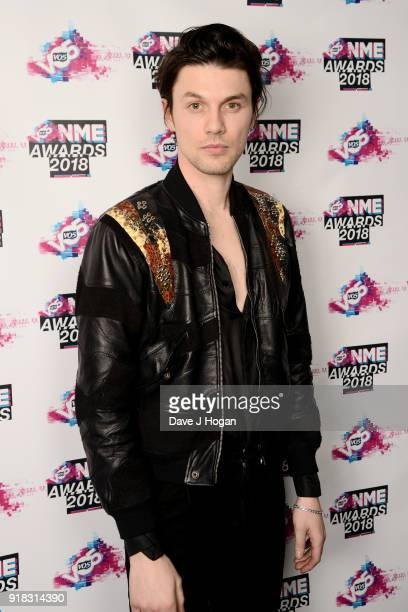 James Bay poses in the winners room during the VO5 NME Awards held at Brixton Academy on February 14 2018 in London England