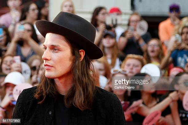 TORONTO ON JUNE 19 James Bay poses on the red carpet at the IHeartRadio MuchMusic Video Awards on June 19 2016