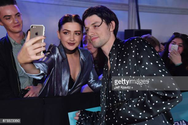 James Bay poses with fans at the MTV EMAs 2017 held at The SSE Arena Wembley on November 12 2017 in London England