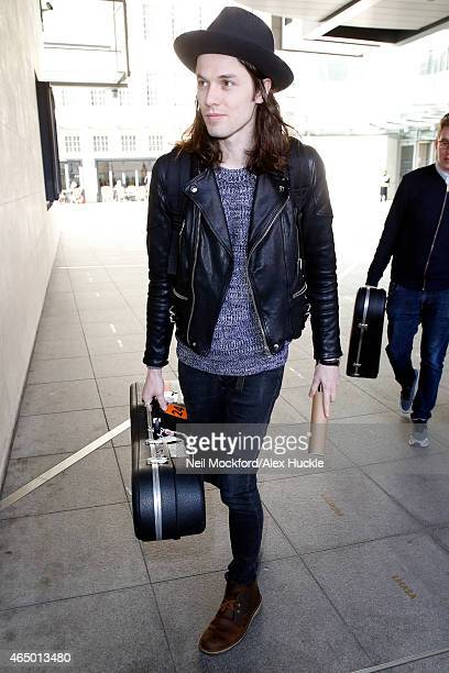 James Bay seen arriving at the BBC Radio 1 Studios on March 3 2015 in London England