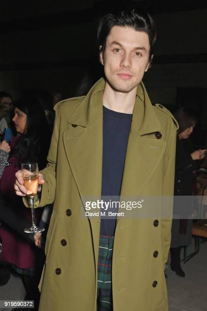 James Bay wearing Burberry at the Burberry February 2018 show during London Fashion Week at Dimco Buildings on February 17 2018 in London England