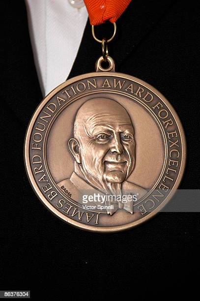 James Beard medal of the the 2009 James Beard Foundation Awards Ceremony and Gala at Avery Fisher Hall at Lincoln Center for the Performing Arts on...