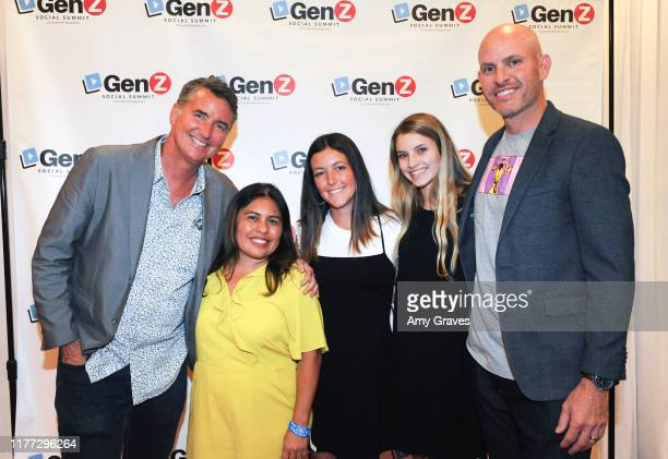 James Bell, Laura Filipowicz, Kate Bell, Riley Kuzina and Chris Kuzina attend the ConnectHer Media's Launch Party for the Gen Z Girls X Gen Z Guys...