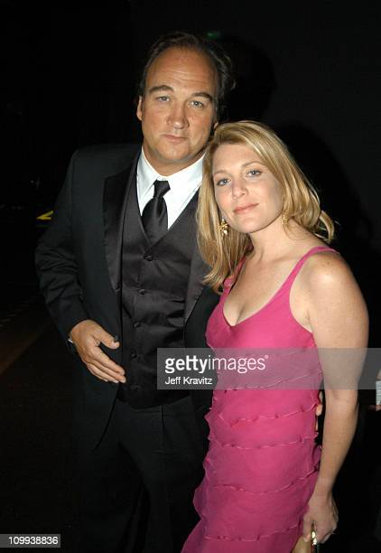 James Belushi and wife Jennifer Sloan during 55th Annual Primetime Emmy Awards Governors Ball at The Shrine Auditorium in Los Angeles California...