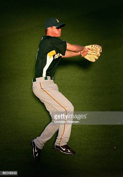 James Beresford of Team Australia warms up before the spring training game against the Seattle Mariners at Peoria Stadium on March 4 2009 in Peoria...