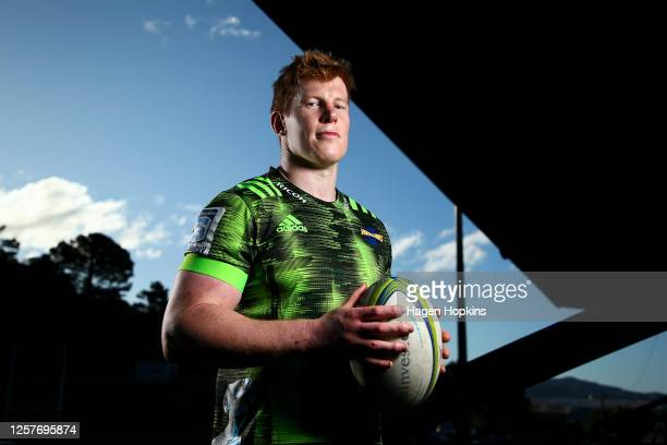 James Blackwell poses during a Hurricanes Super Rugby training session at Rugby League Park on July 23, 2020 in Wellington, New Zealand.