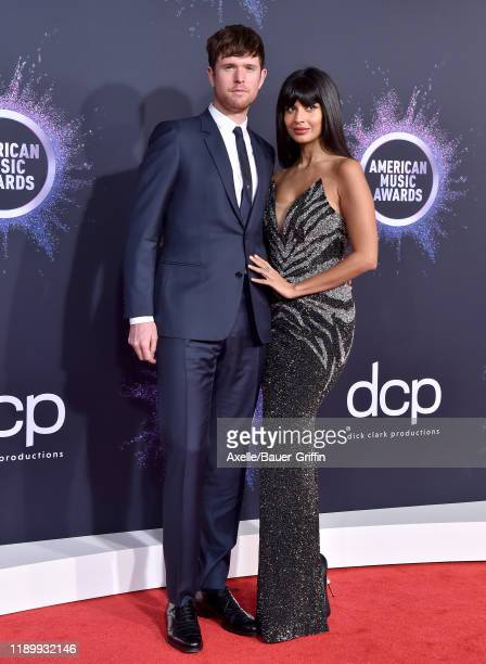 James Blake and Jameela Jamil attend the 2019 American Music Awards at Microsoft Theater on November 24 2019 in Los Angeles California