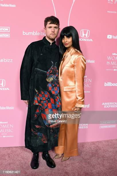 James Blake and Jameela Jamil attend the 2019 Billboard Women In Music at Hollywood Palladium on December 12 2019 in Los Angeles California