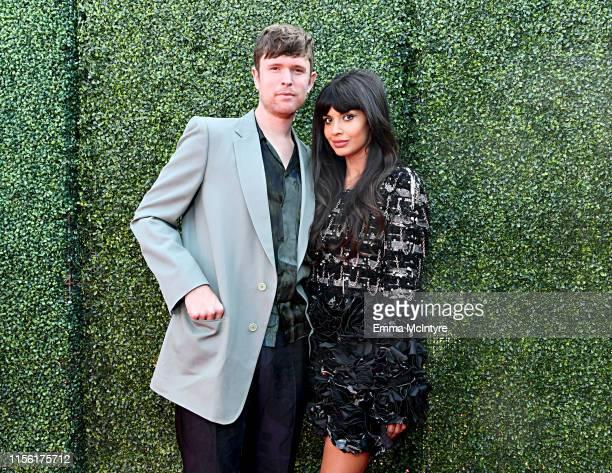 James Blake and Jameela Jamil attend the 2019 MTV Movie and TV Awards at Barker Hangar on June 15, 2019 in Santa Monica, California.