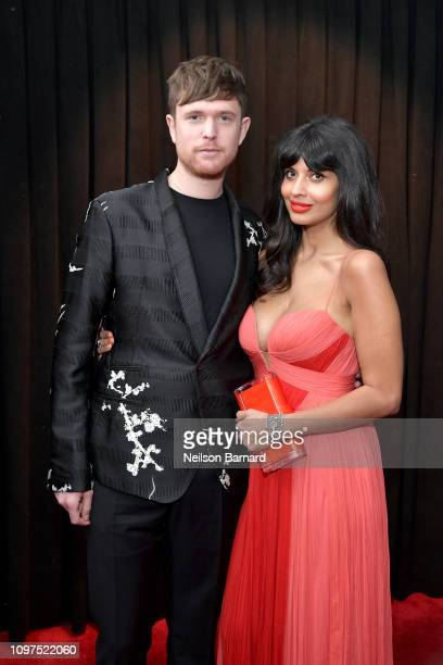 James Blake and Jameela Jamil attend the 61st Annual GRAMMY Awards at Staples Center on February 10 2019 in Los Angeles California