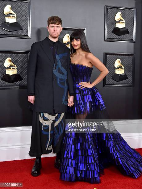 James Blake and Jameela Jamil attend the 62nd Annual GRAMMY Awards at Staples Center on January 26, 2020 in Los Angeles, California.