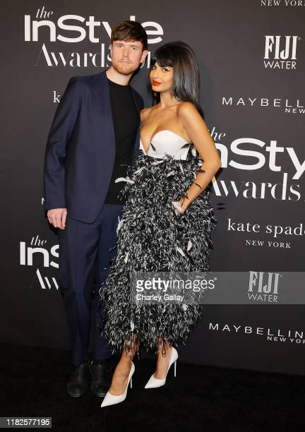 James Blake and Jameela Jamil attend the Fifth Annual InStyle Awards with FIJI Water on October 21, 2019 in Los Angeles, California.