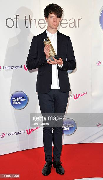 James Blake arrives at the 2011 Barclaycard Mercury Prize Album of the Year at Grosvenor House on September 6 2011 in London England