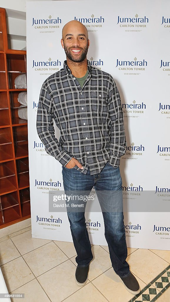 James Blake at the Champions Tennis players' party at Jumeirah Carlton Tower on December 3, 2015 in London, England.