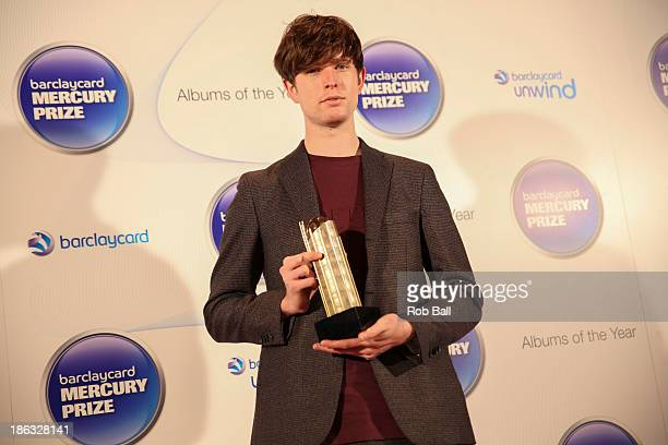 James Blake attends the Barclaycard Mercury Prize at The Roundhouse on October 30 2013 in London England