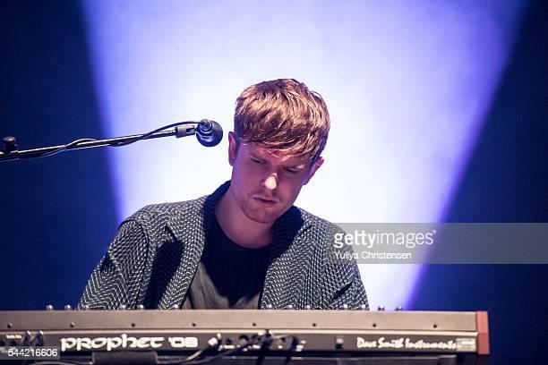 James Blake perform at Roskilde Festival on July 1 2016 in Roskilde Denmark