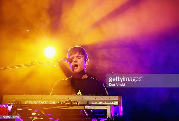 James Blake performs at Hordern Pavilion on July 26 2016 in Sydney Australia