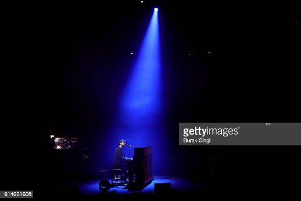 James Blake performs at the Roundhouse on February 5 2018 in London England