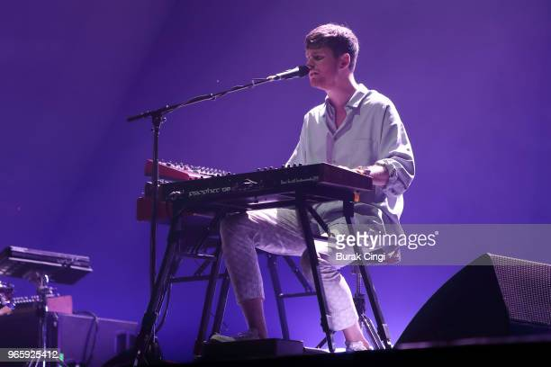 James Blake performs on day 1 of the Governors Ball Music Festival 2018 at Randall's Island Park on June 1 2018 in New York