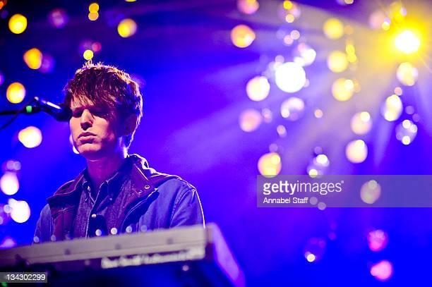 James Blake performs on stage at HMV Forum on November 30 2011 in London United Kingdom