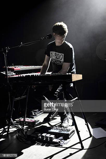James Blake performs on stage at O2 Shepherd's Bush Empire on September 25 2013 in London England