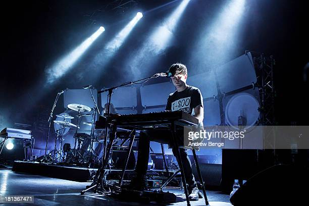 James Blake performs on stage at Ritz Manchester on September 20 2013 in Manchester England