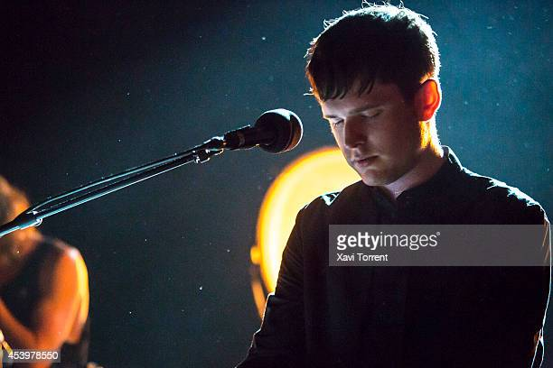 James Blake performs on stage at Sala Apolo on August 22 2014 in Barcelona Spain