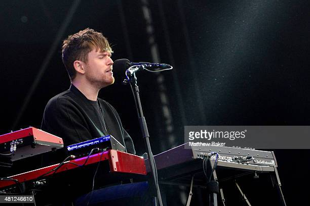 James Blake performs on the Obelisk Arena stage on day 3 of Latitude Festival at Henham Park Estate on July 18 2015 in Southwold England