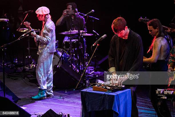 James Blake performs with Connan Mockasin at the Royal Festival Hall as part of the Meltfown Festival curated by Guy Garvey on June 15 2016 in London...