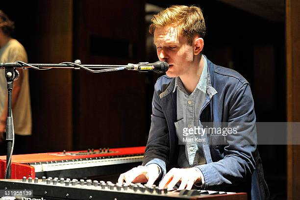 James Blake soundchecks before his performance at The Purcell Room South Bank Centre on April 10 2011 in London England