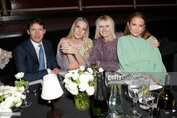 James Blunt Alice NaylorLeyland and Millie Mackintosh attend the VIP dinner at The Fashion Awards 2019 held at Royal Albert Hall on December 02 2019...