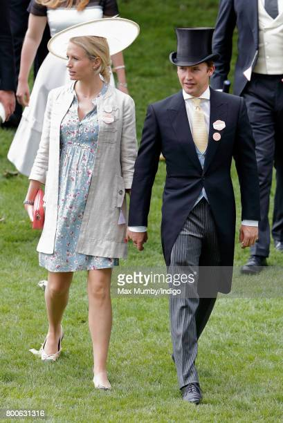 James Blunt and his wife Sofia Wellesley attend day 5 of Royal Ascot at Ascot Racecourse on June 24 2017 in Ascot England